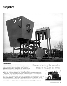 "Whitehead, Ingrid. ""Remembering Those Who Forged An Age of Steel."" Architectural Record, (March 2002): 63–64."